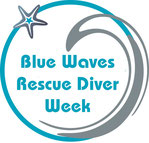 rescue diver training week on blue waves