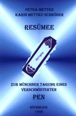 Karin Mettke-Schröder, Petra Mettke/Resümee-PEN Heft 1/1998/Coverentwurf
