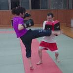 メタボ対策でキックボクシング