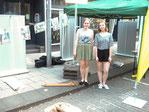 NABU Stand am Tag des Guten Lebens (links Vanessa Twer, daneben Jana Ranft)