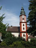 St.Martin Hochdorf mit Storchennest
