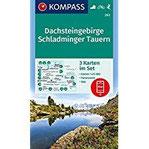 Dachsteingebirge, Schladminger Tauern 3 Wanderkarten 1 25000 im Set mit Panoramen inklusive Karte zur offline Verwendung in der KOMPASS-App. Fahrradfahren. Skitouren. (KOMPASS-Wanderkarten, Band 293)