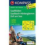 Saalfelden - Saalbach-Hinterglemm - Zell am See Wanderkarte mit KOKMPASS-Lexikon, Radwegen, Skitouren und Panorama. GPS-genau. 1 50000 (KOMPASS-Wanderkarten, Band 30)