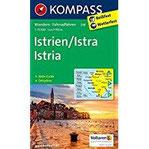 Istrien Istra Istria Wanderkarte mit Aktiv Guide, Radrouten und Ortsplänen. 1 75000 (KOMPASS-Wanderkarten, Band 238)