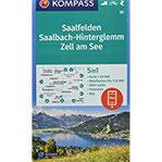 Saalfelden, Saalbach-Hinterglemm, Zell am See 5in1 Wanderkarte 1 50000 mit Panorama, Aktiv Guide und Detailkarten inklusive Karte zur offline ... Skitouren. (KOMPASS-Wanderkarten, Band 30)
