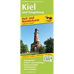 Kiel und Umgebung Rad- und Wanderkarte mit Ausflugszielen, Einkehr- & Freizeittipps, wetterfest, reissfest, abwischbar, GPS-genau. 1 50000 (Rad- und Wanderkarte RuWK)