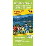 Kitzbüheler Alpen, Saalbach-Hinterglemm, Saalfelden - Zell am See Wander- und Radkarte mit Ausflugszielen & Freizeittipps, wetterfest, reißfest, ... 1 35000 (Wander- und Radkarte WuRK)