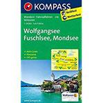 Wolfgangsee, Fuschlsee, Mondsee Wanderkarte mit Aktiv Guide, Panorama, Radwegen und alpinen Skirouten. GPS-genau. 125000 (KOMPASS-Wanderkarten, Band 18)