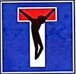 Speciaal verkeersbord - Jezus aan het kruis