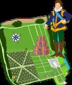 Aperçu de la carte au trésor du Petit Prince Eugène - Château de Condé en Brie champenoise de Picardie