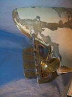 4-Blatt Propeller mit Ruder
