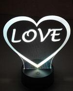 Veilleuse de nuit  en découpe laser sur acrylique