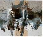 MIGUEL ANGEL ALAMILLA, Acción en el espacio, oleo/tela, 80x100cm, 2011.