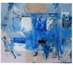 MIGUEL ANGEL ALAMILLA, Azul descendente, óleo/tela, 80x100cm, 2011.