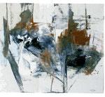MIGUEL ANGEL ALAMILLA, Aglomeración , óleo/tela, 80x100cm, 2012.