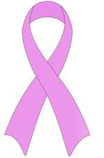 Symbol der Solidarität mit von Brustkrebs betroffenen Frauen
