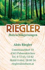 Holzschlägerungen-Riegler