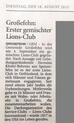 Ostfriesen Zeitung, 18.8.2015