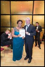 Preis Badisches Staatstheater Karlsruhe: Eine Zusammenarbeit der H. Zadek Stiftung mit dem Badischen Staatstheater Karlsruhe (GI Peter Spuhler) und der Musikhochschule Karlsruhe, R. BRYCE-DAVIS (Foto: Fayer)