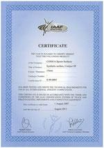 Certificat IAAF Conipur SW