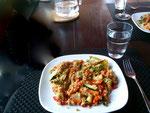 veganes Essen - Bulgur mit Gemüse