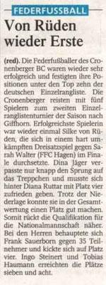 Westdeutsche Zeitung Bericht vom 13.04.2004