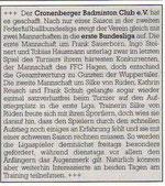 Cronenberger Anzeiger Bericht vom 20.05.2003