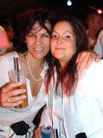 Mit meiner lieben Freundin Corinne an der Mykonos-Party