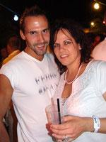Mit Marco Heinrich an der Mykonos-Party