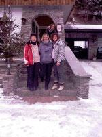 Drei unserer Skihasen         Winter 2010