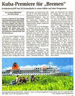 16.04. bis 27.05.2007 Engagement auf MS Bremen von Iquitos nach Hamburg
