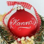 Kalligraphie Weihnachtskugel mit Namen