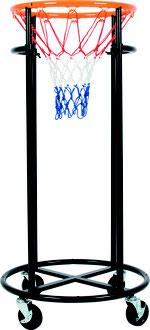 Panier de basket-ball pour enfants amovible sur roulette à acheter pas cher.