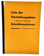 LISTER DER SCHREIBMASHINE Schramm 1962