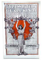 TYPEWRITERS AF ALL KINDS F.S.Webster Cº. ETCetera Reprint 2006