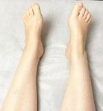 アロマリンパマッサージ、足首は細く、足はのびのび大きくなりました