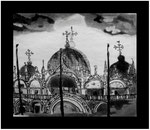 Gravure : La basilique Saint-Marc, Venise