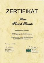 Zertifikat 3to Spangentechnik