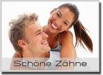 Schöne weisse Zähne mit Bleaching (Zahnaufhellung) und Komposit-Füllungen in Weiden (©Yuri Arcurs - Fotolia.com)