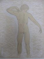 Ephémère beauté -crayon, pastel sec 30x40cm-