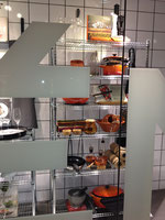 Åhléns のキッチン用品のショーウインドー オレンジのコーナー