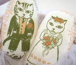 猫夫婦ウェルカムドール「ハワイ風」