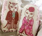 猫夫婦ウェルカムドール「和装」