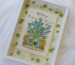 木製アートボックス「木と祝福の花」