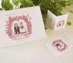 猫夫婦の招待状、メッセージカード