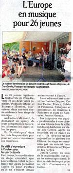 Le Dauphiné Libéré - 14 juillet 2011