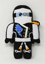 Formkissen mit Namen Ninja Ninjago weiß, Eis- Ninja