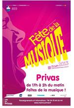 Plakat aus Privas 2013