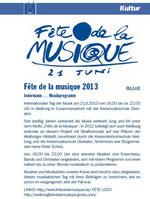 Fête-Ankündigung im vhs-Programmheft 2013/1 der KVHS LImburg-Weilburg, Seite 269