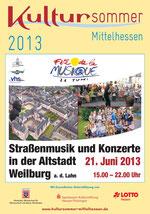 Plakat der Fête 2013 in Weilburg